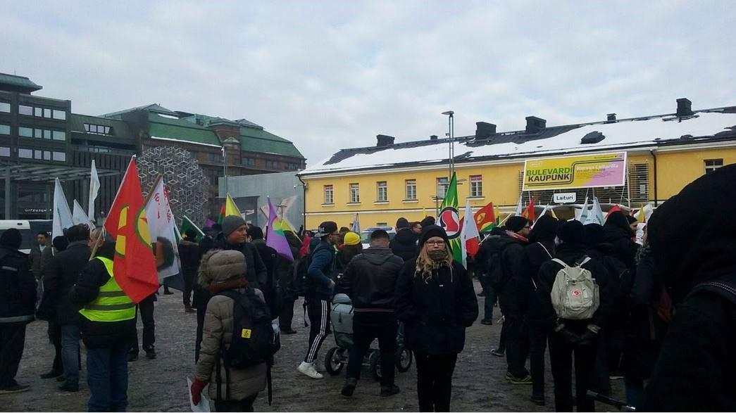 Mielenosoitus Helsingissä